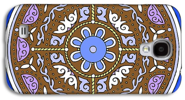 Kim Drawings Galaxy S4 Cases - Celtic Mandala Winter Galaxy S4 Case by Kim Victoria