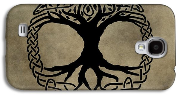 The Trees Mixed Media Galaxy S4 Cases - Celtic Tree Of Life Galaxy S4 Case by Dan Sproul