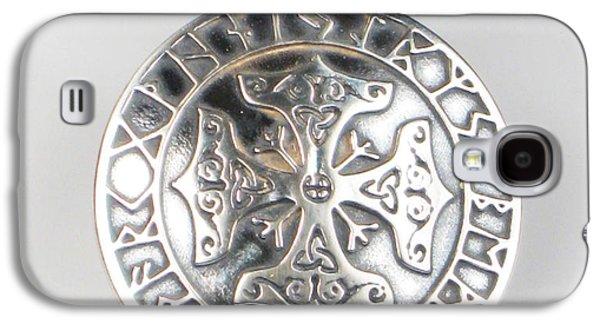 Religious Jewelry Galaxy S4 Cases - Celtic Viking Cross Rune Calendar Galaxy S4 Case by Virginia Vivier -  Esprit Mystique