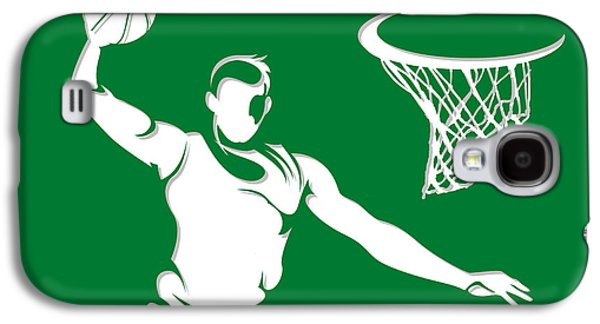 Boston Celtics Galaxy S4 Cases - Celtics Shadow Player1 Galaxy S4 Case by Joe Hamilton