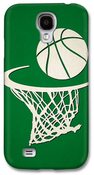 Boston Celtics Galaxy S4 Cases - Celtics Team Hoop2 Galaxy S4 Case by Joe Hamilton