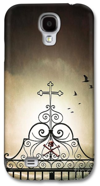 Graveyard Galaxy S4 Cases - Cemetery Gate Galaxy S4 Case by Carlos Caetano