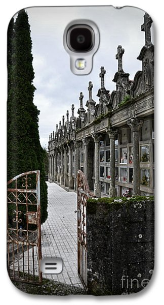 Relief Sculpture Galaxy S4 Cases - Cemetery in a small village in Galicia Galaxy S4 Case by  RicardMN Photography