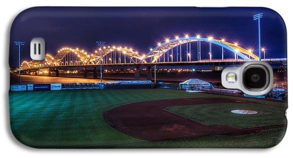 Mounds Galaxy S4 Cases - Centennial Bridge and Modern Woodmen Park Galaxy S4 Case by Scott Norris