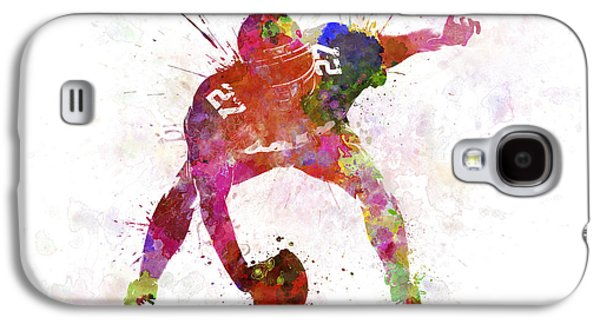 American Football Paintings Galaxy S4 Cases - Center American Football Player Man Galaxy S4 Case by Pablo Romero