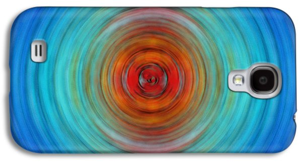 Light Mixed Media Galaxy S4 Cases - Center Point - Abstract Art By Sharon Cummings Galaxy S4 Case by Sharon Cummings