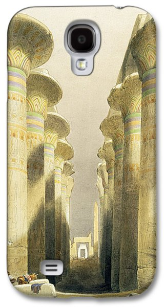 Ruin Galaxy S4 Cases - Central Avenue of the Great Hall of Columns Galaxy S4 Case by David Roberts