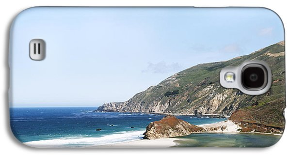 Famous Highway 1 In California Galaxy S4 Cases - Central Coast Beach Near Cambria and San Simeon Galaxy S4 Case by Artist and Photographer Laura Wrede