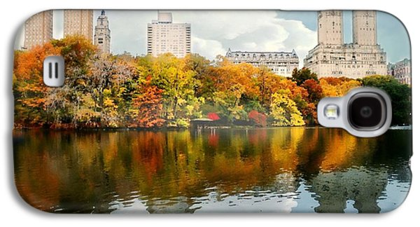 Pond In Park Galaxy S4 Cases - Central Park #1 Galaxy S4 Case by Diana Angstadt