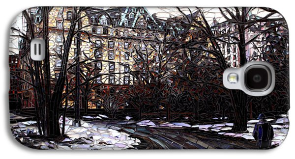 Nyc Glass Galaxy S4 Cases - Central Park in the Snow Galaxy S4 Case by Sandra Bryant