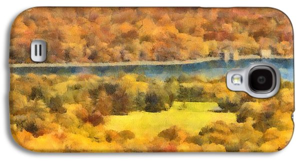 Skylines Paintings Galaxy S4 Cases - Central Park Watercolor Galaxy S4 Case by Dan Sproul