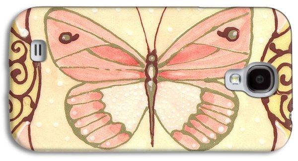 Abstracts Ceramics Galaxy S4 Cases - Ceramic Butterfly 2 Galaxy S4 Case by Anna Skaradzinska