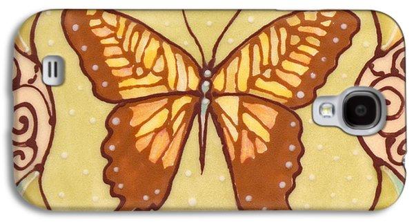 Abstracts Ceramics Galaxy S4 Cases - Ceramic Butterfly Galaxy S4 Case by Anna Skaradzinska