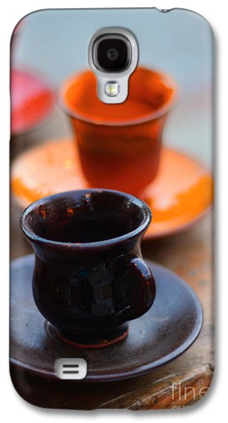 Mug Ceramics Galaxy S4 Cases - Ceramic Mug Galaxy S4 Case by Ezgi  Toprak
