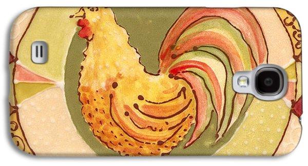 Bird Ceramics Galaxy S4 Cases - Ceramic Rooster Galaxy S4 Case by Anna Skaradzinska