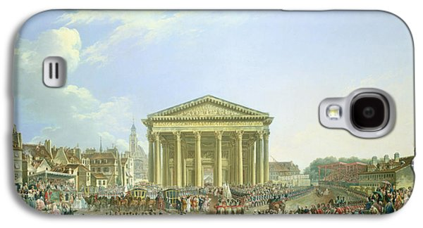 Inauguration Galaxy S4 Cases - Ceremony Of Laying The First Stone Of The New Church Of St. Genevieve In 1763, 1764 Oil On Canvas Galaxy S4 Case by Pierre-Antoine Demachy