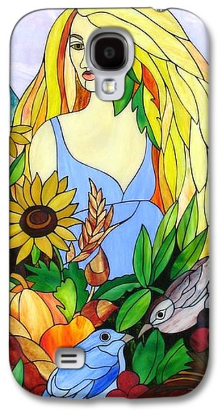 Print Glass Art Galaxy S4 Cases - Ceres Galaxy S4 Case by Suzanne Tremblay
