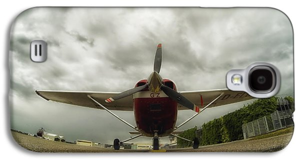 Ground Level Galaxy S4 Cases - Cessna in Fisheye Galaxy S4 Case by Mountain Dreams