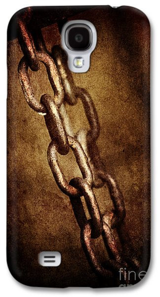 Abstracts Pyrography Galaxy S4 Cases - Chains Galaxy S4 Case by Jelena Jovanovic