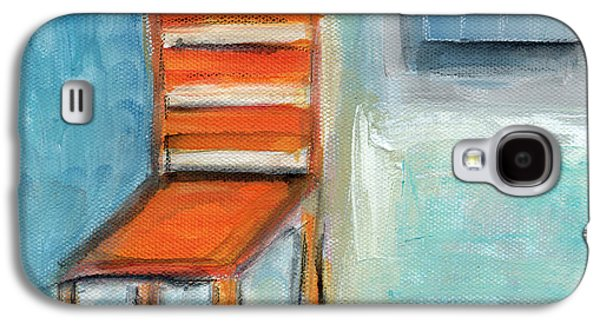Still Life Mixed Media Galaxy S4 Cases - Chair By The Window- Painting Galaxy S4 Case by Linda Woods