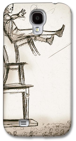 Chair Drawings Galaxy S4 Cases - Chairs Galaxy S4 Case by H James Hoff