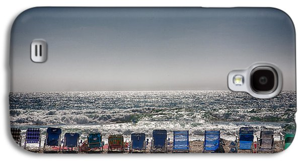 Chairs Watching The Sunset Galaxy S4 Case by Peter Tellone
