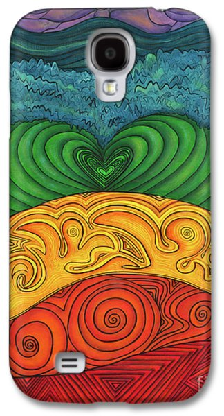 Chakra Rainbow Paintings Galaxy S4 Cases - Chakra Ascension Galaxy S4 Case by Deborha Kerr