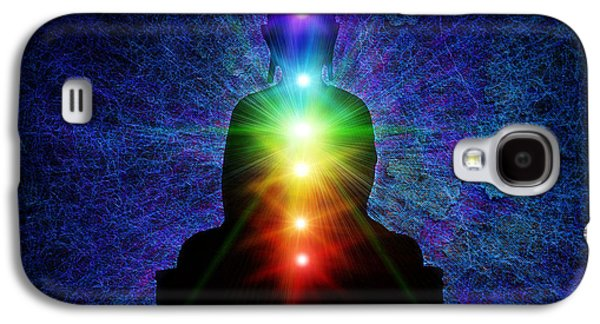 Spirituality Galaxy S4 Cases - Chakra Buddha Galaxy S4 Case by Tim Gainey