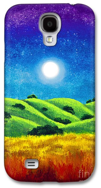 Chakra Rainbow Paintings Galaxy S4 Cases - Chakra Landscape Galaxy S4 Case by Laura Iverson