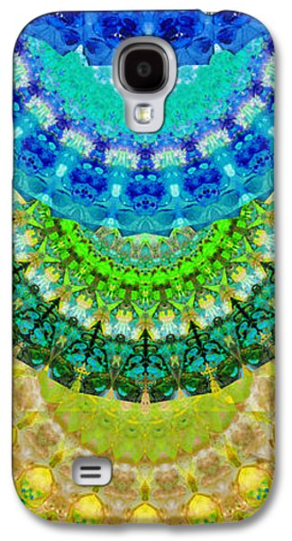 Chakra Paintings Galaxy S4 Cases - Chakra Mandala Healing Art by Sharon Cummings Galaxy S4 Case by Sharon Cummings