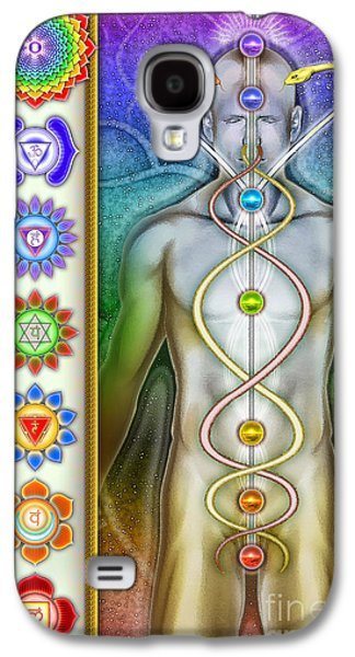 Healing Posters Galaxy S4 Cases - Chakra System Series IV Galaxy S4 Case by Dirk Czarnota