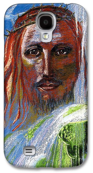 Jesus Art Galaxy S4 Cases - Chalice of Life Galaxy S4 Case by Jane Small
