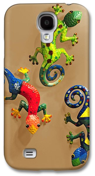 Chameleon Galaxy S4 Cases - Chameleons Galaxy S4 Case by Edwin Verin
