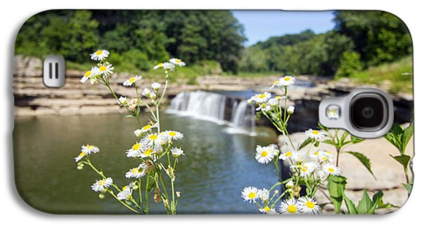 Indiana Flowers Galaxy S4 Cases - Chamomile at The Falls Galaxy S4 Case by Jackie Novak