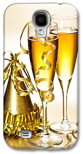 Champagne Glasses Galaxy S4 Cases - Champagne and New Years party decorations Galaxy S4 Case by Elena Elisseeva