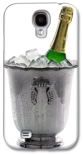 Cut-outs Galaxy S4 Cases - Champagne bottle on ice Galaxy S4 Case by Johan Swanepoel