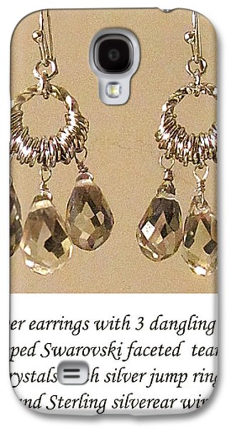Torn Jewelry Galaxy S4 Cases - Champagne Danglers Galaxy S4 Case by Jennie Breeze
