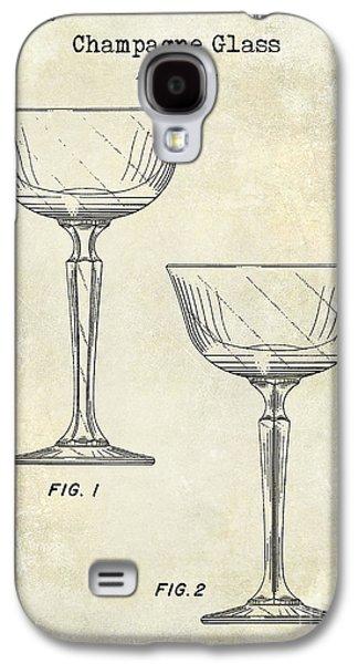 Champagne Glass Patent Drawing Galaxy S4 Case by Jon Neidert