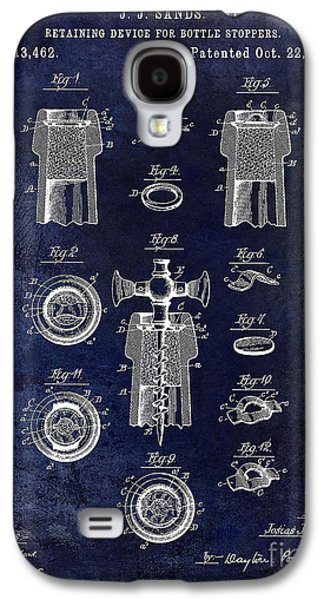 Champagne Glasses Galaxy S4 Cases - Champagne Retaining Device Patent 1889 Blue Galaxy S4 Case by Jon Neidert