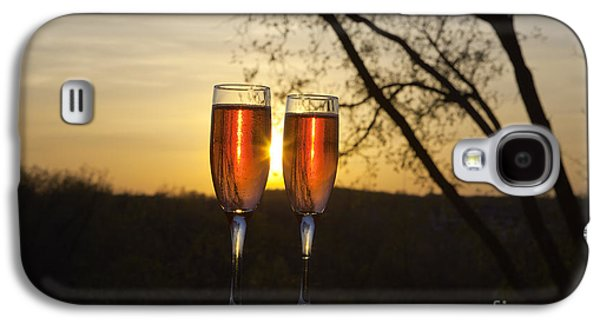 Champagne Glasses Galaxy S4 Cases - Champagne Sunset Galaxy S4 Case by Kay Pickens