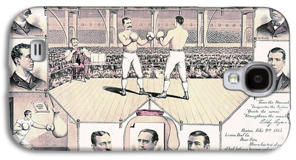 Champion Pugilists 1885 Galaxy S4 Case by Padre Art