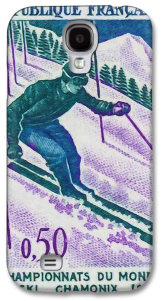 Skiing Posters Paintings Galaxy S4 Cases - Championships Chamonix Ski World 1962 Galaxy S4 Case by Lanjee Chee
