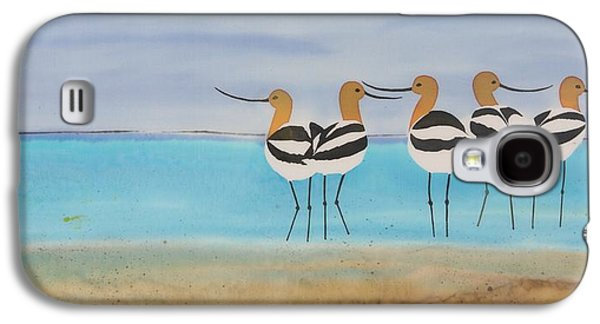 Animals Tapestries - Textiles Galaxy S4 Cases - Chance encounter at the beach Galaxy S4 Case by Carolyn Doe