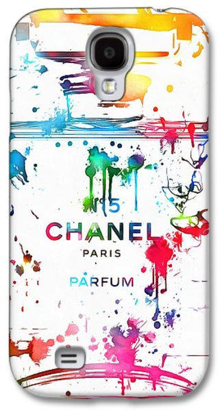 Chanel Number Five Paint Splatter Galaxy S4 Case by Dan Sproul