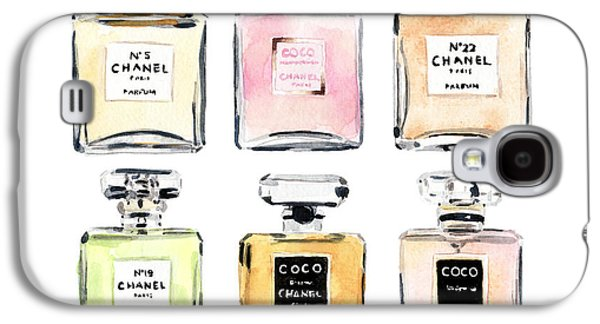 Chanel Perfumes Galaxy S4 Case by Laura Row Studio