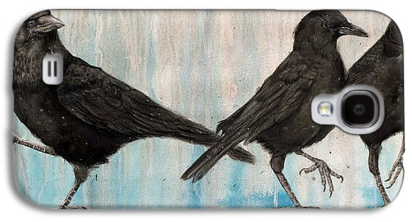 Crows Paintings Galaxy S4 Cases - Changing of the Crows Galaxy S4 Case by Marie Stone Van Vuuren
