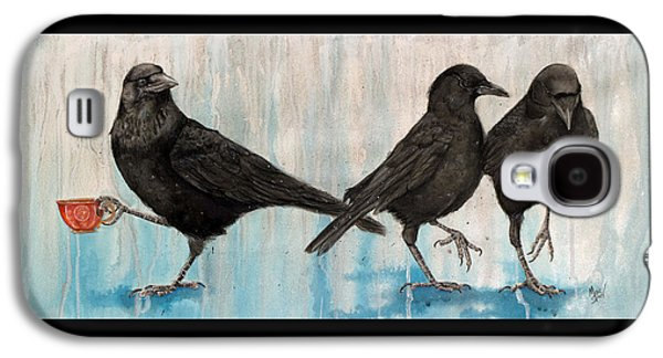 Crows Black Paintings Galaxy S4 Cases - Changing of the Crows Galaxy S4 Case by Marie Stone Van Vuuren