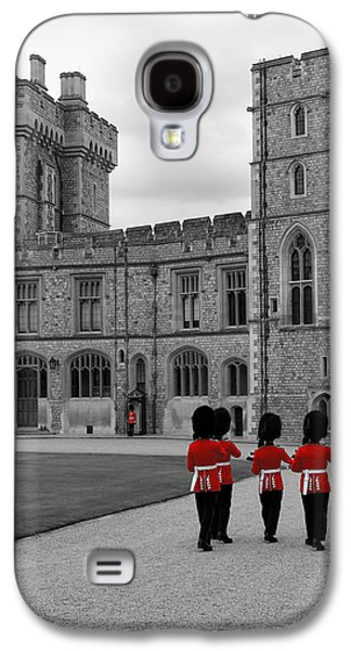 Decorate Galaxy S4 Cases - Changing of the Guard at Windsor Castle Galaxy S4 Case by Lisa Knechtel