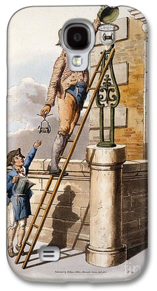 Replacing Galaxy S4 Cases - Changing Street Lamp Burner, 1805 Galaxy S4 Case by British Library