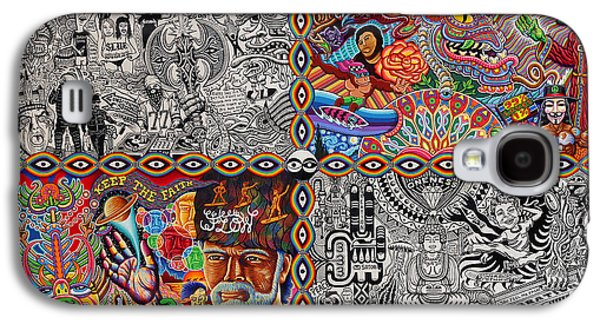 Trippy Paintings Galaxy S4 Cases - Chaos Culture Jam Galaxy S4 Case by Chris Dyer